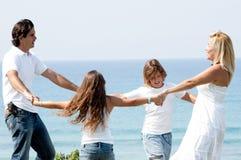 Famiglia che gode di bello giorno Fotografie Stock