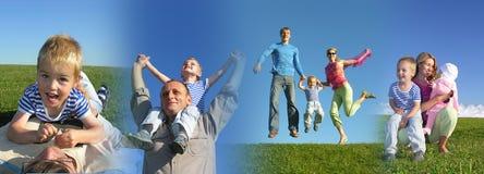 Famiglia che monta 2 Immagine Stock Libera da Diritti