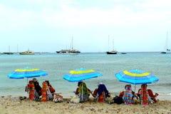 Spiaggia a Formentera Fotografie Stock Libere da Diritti