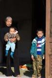 Famiglia cinese felice Fotografie Stock