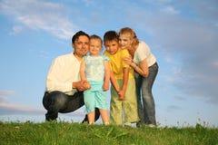 Famiglia con i bambini Fotografia Stock Libera da Diritti