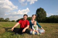 Famiglia con il bambino fotografia stock