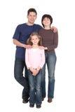 Famiglia con la figlia Fotografia Stock Libera da Diritti