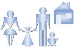 Famiglia dalle figure geometriche Fotografie Stock