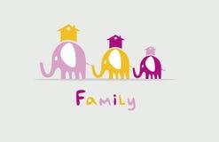 Famiglia degli elefanti Royalty Illustrazione gratis