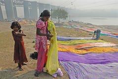 famiglia degli Rondella-uomini in India Fotografia Stock