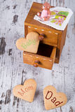 Famiglia dei biscotti Fotografie Stock Libere da Diritti