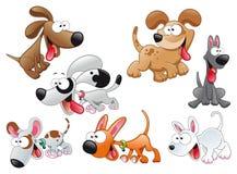 Famiglia dei cani Fotografia Stock Libera da Diritti