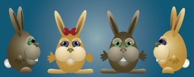 Famiglia dei coniglietti Immagine Stock Libera da Diritti