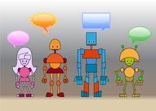 Famiglia dei robot Fotografia Stock Libera da Diritti