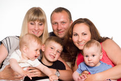 Famiglia dei sei Fotografia Stock