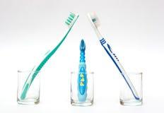 Famiglia dei toothbrushes Fotografia Stock Libera da Diritti