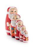 Famiglia del Babbo Natale Fotografie Stock Libere da Diritti