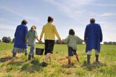 Famiglia del coltivatore Fotografie Stock