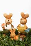Famiglia del coniglietto di pasqua fotografia stock libera da diritti