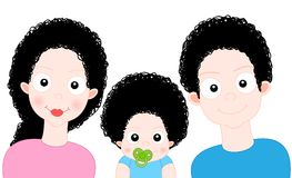 Famiglia del dolce del fumetto Fotografia Stock Libera da Diritti