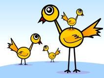 Famiglia del fratello di s degli uccelli lunghi del piedino ' Immagini Stock Libere da Diritti