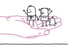 Famiglia del fumetto - gentilezza Fotografie Stock Libere da Diritti