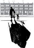 Famiglia del ghetto royalty illustrazione gratis