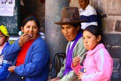 Famiglia del Perù fotografia stock libera da diritti