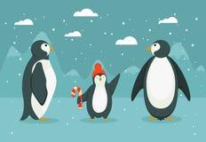 Famiglia del pinguino immagini stock