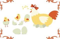 Famiglia del pollo Fotografia Stock