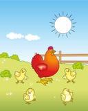 Famiglia del pollo Illustrazione Vettoriale