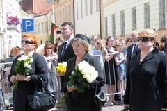 Famiglia del Presidente della precedente Lituania immagini stock libere da diritti