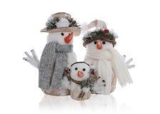 Famiglia del pupazzo di neve Immagine Stock Libera da Diritti