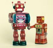Famiglia del robot Immagine Stock Libera da Diritti
