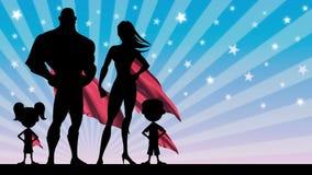 Famiglia del supereroe illustrazione vettoriale