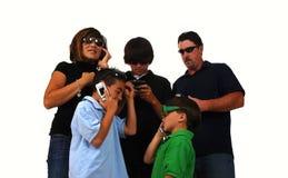 Famiglia del telefono Immagini Stock