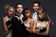 Famiglia del vampiro Fotografia Stock Libera da Diritti
