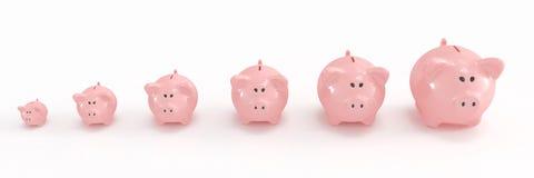 Famiglia della banca Piggy illustrazione vettoriale