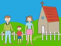 Famiglia della chiesa Fotografia Stock