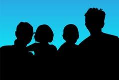 Famiglia della siluetta Immagini Stock