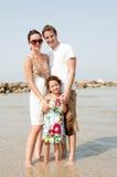 famiglia della spiaggia Immagini Stock