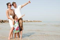 famiglia della spiaggia Immagine Stock