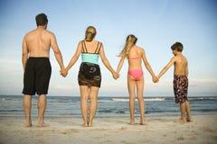 famiglia della spiaggia Immagini Stock Libere da Diritti