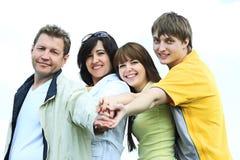 Famiglia della squadra fotografia stock