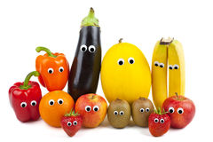 Famiglia della verdura e della frutta Fotografie Stock