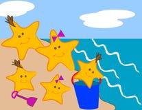 Famiglia delle stelle marine Fotografia Stock