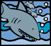 Famiglia dello squalo Immagini Stock