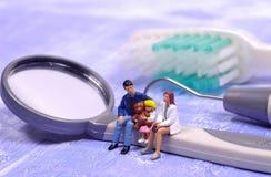 Famiglia dentale Fotografie Stock Libere da Diritti