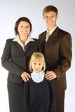 Famiglia di affari Immagine Stock