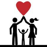 Famiglia di amore Immagine Stock