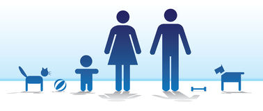Famiglia di base Immagini Stock Libere da Diritti