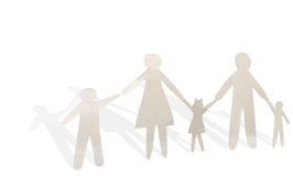 Famiglia di carta Immagini Stock