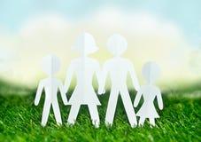 Famiglia di carta degli uomini Immagine Stock Libera da Diritti