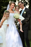 Famiglia di cerimonia nuziale Fotografia Stock Libera da Diritti